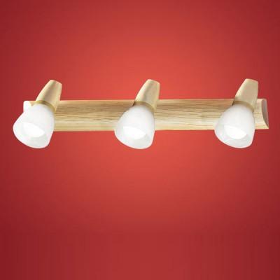 Eglo Aosta 86537 Светильник поворотный спотТройные<br>Светильники-споты – это оригинальные изделия с современным дизайном. Они позволяют не ограничивать свою фантазию при выборе освещения для интерьера. Такие модели обеспечивают достаточно качественный свет. Благодаря компактным размерам Вы можете использовать несколько спотов для одного помещения. <br>Интернет-магазин «Светодом» предлагает необычный светильник-спот Eglo 86537 по привлекательной цене. Эта модель станет отличным дополнением к люстре, выполненной в том же стиле. Перед оформлением заказа изучите характеристики изделия. <br>Купить светильник-спот Eglo 86537 в нашем онлайн-магазине Вы можете либо с помощью формы на сайте, либо по указанным выше телефонам. Обратите внимание, что мы предлагаем доставку не только по Москве и Екатеринбургу, но и всем остальным российским городам.<br><br>S освещ. до, м2: 8<br>Тип лампы: накал-я - энергосбер-я<br>Тип цоколя: E14<br>Количество ламп: 3<br>Ширина, мм: 60<br>MAX мощность ламп, Вт: 40<br>Высота, мм: 460<br>Цвет арматуры: деревянный