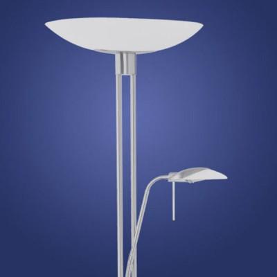 Eglo TAMPA 86573 ТоршерыАрхив<br><br><br>S освещ. до, м2: до 2<br>Тип лампы: галогенная<br>Тип цоколя: R7S<br>Цвет арматуры: никель матовый<br>Количество ламп: 1+1<br>Размеры основания, мм: 280<br>Длина, мм: 440<br>Высота, мм: 1800<br>Оттенок (цвет): белый<br>MAX мощность ламп, Вт: 7<br>Общая мощность, Вт: 1X230W