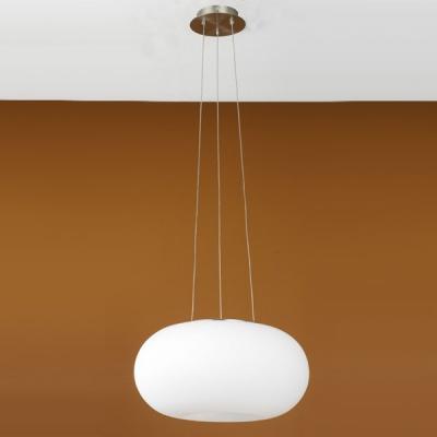 Eglo OPTICA 86814 Светильник подвеснойОдиночные<br>Австрийское качество модели светильника Eglo 86814 не оставит равнодушным каждого купившего! Матовое закаленное стекло(пр-во Чехия), Никелированный матовый корпус и декор, выключателем, Класс изоляции 2 (двойная изоляция), IP 20, освещенность 1612 lm ,Н=1100D=350,2X60W,E27.<br><br>S освещ. до, м2: 8<br>Тип лампы: накаливания / энергосбережения / LED-светодиодная<br>Тип цоколя: E27<br>Количество ламп: 2<br>MAX мощность ламп, Вт: 2<br>Диаметр, мм мм: 350<br>Размеры основания, мм: 0<br>Высота, мм: 1100<br>Оттенок (цвет): белый<br>Цвет арматуры: серый<br>Общая мощность, Вт: 2X60W