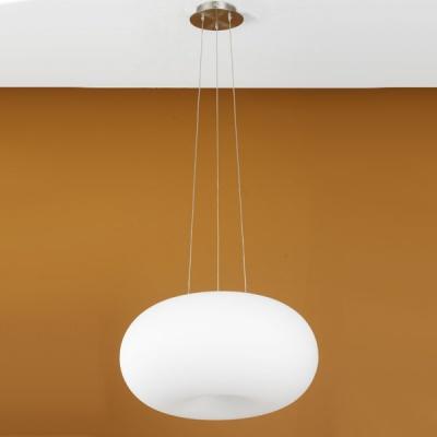 Eglo OPTICA 86815 Светильник подвеснойОдиночные<br>Австрийское качество модели светильника Eglo 86815 не оставит равнодушным каждого купившего! Матовое закаленное стекло(пр-во Чехия), Никелированный матовый корпус и декор, выключателем, Класс изоляции 2 (двойная изоляция), IP 20, освещенность 1612 lm ,Н=1100D=450,2X60W,E27.<br><br>S освещ. до, м2: 8<br>Тип лампы: накаливания / энергосбережения / LED-светодиодная<br>Тип цоколя: E27<br>Цвет арматуры: серый<br>Количество ламп: 2<br>Диаметр, мм мм: 445<br>Размеры основания, мм: 0<br>Высота, мм: 1100<br>Оттенок (цвет): белый<br>MAX мощность ламп, Вт: 2<br>Общая мощность, Вт: 2X60W