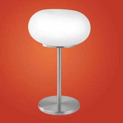 Eglo OPTICA 86816 Настольная лампаВ виде шара<br>Австрийское качество модели светильника Eglo 86816 не оставит равнодушным каждого купившего! Матовое закаленное стекло(пр-во Чехия), Никелированный матовый корпус и декор, выключателем, Класс изоляции 2 (двойная изоляция), IP 20, освещенность 1612 lm ,Н=460D=280,2X60W,E27.<br><br>S освещ. до, м2: 8<br>Тип лампы: накал-я - энергосбер-я<br>Тип цоколя: E27<br>Цвет арматуры: серый<br>Количество ламп: 2<br>Диаметр, мм мм: 280<br>Размеры основания, мм: 0<br>Высота, мм: 460<br>Оттенок (цвет): белый<br>MAX мощность ламп, Вт: 2<br>Общая мощность, Вт: 2X60W
