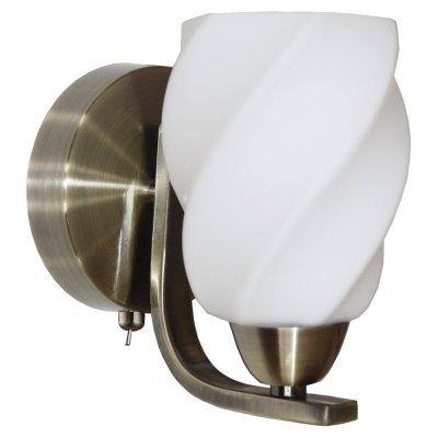 Светильник бра IDLamp 869/1A Oldbronzeсовременные бра модерн<br><br><br>S освещ. до, м2: 4<br>Крепление: Настенные<br>Тип лампы: накаливания / энергосбережения / LED-светодиодная<br>Тип цоколя: E14<br>Цвет арматуры: бронзовый<br>Количество ламп: 1<br>Ширина, мм: 110<br>Длина, мм: 170<br>Высота, мм: 170<br>Оттенок (цвет): белый<br>MAX мощность ламп, Вт: 60