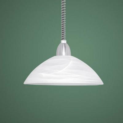 Eglo LORD 2 87008 Светильник подвеснойДля кухни<br>Классический подвесной светильник австрийского производства прекрасно подойдет для вашей кухни. Полусферический плафон выполненный из матового стекла белого цвета замечательно впишется в большинство интерьеров, а покрашенная под никель декоративная часть центрального крепежа прекрасно гармонирует с витым шнуром. Именно благодаря ему высоту светильника очень легко регулировать, для этого вам даже не придется его снимать.<br><br>S освещ. до, м2: 6<br>Тип лампы: накал-я - энергосбер-я<br>Тип цоколя: E27<br>Цвет арматуры: серый<br>Количество ламп: 1<br>Диаметр, мм мм: 360<br>Размеры основания, мм: 0<br>Высота, мм: 1100<br>Оттенок (цвет): белый<br>MAX мощность ламп, Вт: 2<br>Общая мощность, Вт: 1X60W