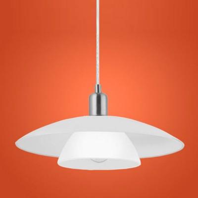 Eglo BRENDA 87052 Светильник подвеснойОдиночные<br>Австрийское качество модели светильника Eglo 87052 не оставит равнодушным каждого купившего! Закаленное стекло (пр-во Чехия), дополнительный внутренний рассеивющий плафон. Основание сталь. Класс изоляции 2 (двойная изоляция до лампы), IP 20, освещенность 806 lm ,Н=1100D=410,1X60W,E27.<br><br>S освещ. до, м2: 4<br>Тип лампы: накаливания / энергосбережения / LED-светодиодная<br>Тип цоколя: E27<br>Количество ламп: 1<br>MAX мощность ламп, Вт: 2<br>Диаметр, мм мм: 410<br>Размеры основания, мм: 0<br>Высота, мм: 1100<br>Оттенок (цвет): белый<br>Цвет арматуры: серый<br>Общая мощность, Вт: 1X60W