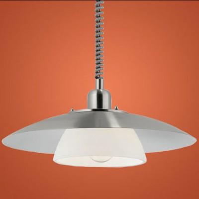 Eglo BRENDA 87058 Светильник подвеснойОдиночные<br>Австрийское качество модели светильника Eglo 87058 не оставит равнодушным каждого купившего! Закаленное алебастровое белое стекло (пр-во Чехия). Основание сталь с защитно/декративным покрытием белого цвета с хромированными вставками. Класс изоляции 2 (двойная изоляция до лампы), IP 20, освещенность 1420lm ,Н=1400D=360,1X100W,E27.<br><br>S освещ. до, м2: 6<br>Тип лампы: накаливания / энергосбережения / LED-светодиодная<br>Тип цоколя: E27<br>Количество ламп: 1<br>MAX мощность ламп, Вт: 2<br>Диаметр, мм мм: 360<br>Размеры основания, мм: 0<br>Высота, мм: 1100<br>Оттенок (цвет): белый<br>Цвет арматуры: серый<br>Общая мощность, Вт: 1X60W