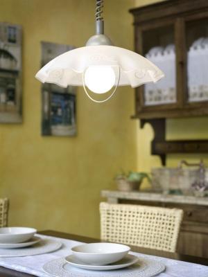Eglo BRENDA 87062 Светильник подвеснойДля кухни<br>Австрийское качество модели светильника Eglo 87062 не оставит равнодушным каждого купившего! Плафон из высококачественного пластика. Основание сталь с защитно/декративным покрытием серого цвета. Класс изоляции 2 (двойная изоляция до лампы), IP 20, освещенность 1420lm ,Н=1100D=415,1X100W,E27.<br><br>S освещ. до, м2: 6<br>Тип лампы: накал-я - энергосбер-я<br>Тип цоколя: E27<br>Цвет арматуры: серебристый<br>Количество ламп: 1<br>Диаметр, мм мм: 415<br>Размеры основания, мм: 0<br>Высота, мм: 1100<br>Оттенок (цвет): белый<br>MAX мощность ламп, Вт: 2<br>Общая мощность, Вт: 1X60W