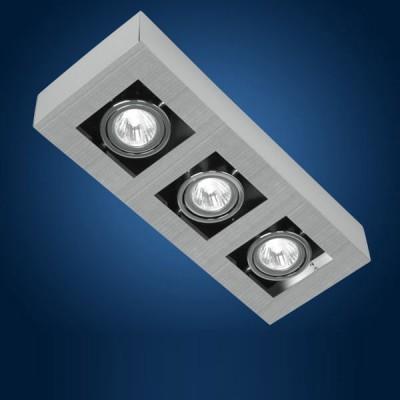 Eglo LOKE 89077 СпотыКарданные<br>Австрийское качество модели светильника Eglo 89077 не оставит равнодушным каждого купившего! Стальной никель-матовый корпус, Класс изоляции 2 (двойная изоляция), IP 20, Экологически безопасные технологии. Освещенность 1530 lm , 360х140.<br><br>S освещ. до, м2: 4 - 6<br>Тип лампы: светодиод<br>Тип цоколя: GU10<br>Количество ламп: 3<br>Ширина, мм: 140<br>MAX мощность ламп, Вт: 2<br>Размеры основания, мм: 0<br>Длина, мм: 360<br>Расстояние от стены, мм: 85<br>Цвет арматуры: алюминий чесаный, хром, черный<br>Общая мощность, Вт: 3X35W
