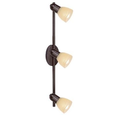 Eglo Dakar 87081 Светильник поворотный спотТройные<br>Австрийское качество модели светильника Eglo 87081 не оставит равнодушным каждого купившего! Закаленное алебастровое стекло коньячного цвета (пр-во Чехия) , основание сталь с защитно декоративным покрыием коричневый антик , Класс изоляции 2 (двойная изоляция от вилки до лампы), IP 20, освещенность 1410 lm ,B=65L=535,3X40W,Е14.<br><br>S освещ. до, м2: 8<br>Тип лампы: накал-я - энергосбер-я<br>Тип цоколя: E14<br>Цвет арматуры: коричневый<br>Количество ламп: 3<br>Ширина, мм: 65<br>Высота, мм: 535<br>MAX мощность ламп, Вт: 40