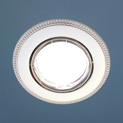 Точечный светильник Электростандарт 870A PS/N (перламутр. серебро / никель)круглые точечные светильники<br>Лампа: MR16 G5.3 max 50 Вт Диаметр: ? 90 мм Высота внутренней части: ? 20 мм Высота внешней части: ? 4 мм Монтажное отверстие: ? 76 мм Гарантия: 2 года Светильник имеет поворотный механизм.