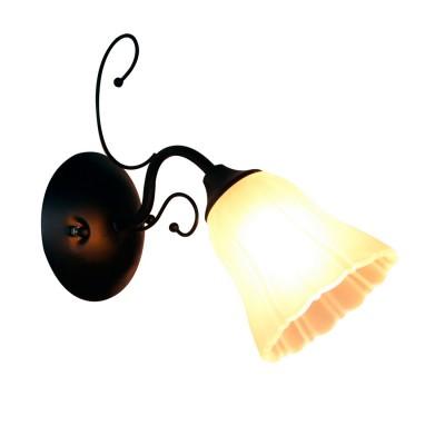 Светильник настенный бра Idlamp 872/1A-Argentoscuro LaurettaСовременные<br><br><br>Крепление: Настенные<br>Тип лампы: Накаливания / энергосбережения / светодиодная<br>Тип цоколя: E27<br>Цвет арматуры: черный<br>Количество ламп: 1<br>Ширина, мм: 275<br>Длина, мм: 120<br>Высота, мм: 260<br>MAX мощность ламп, Вт: 60