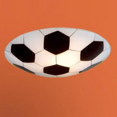 Eglo JUNIOR 1 87284 ДетскиеДля детской<br>Австрийское качество модели светильника Eglo 87284 не оставит равнодушным каждого купившего! Матовое закаленное стекло(пр-во Чехия) с дизайнерским изображением футбольного мяча, металический корпус белого цвета, Класс изоляции 1, IP 20. ,D=245,1X60W,E27.<br><br>S освещ. до, м2: 4<br>Тип лампы: накаливания / энергосбережения / LED-светодиодная<br>Тип цоколя: E27<br>Цвет арматуры: белый<br>Количество ламп: 1<br>Диаметр, мм мм: 245<br>Размеры основания, мм: 0<br>Оттенок (цвет): дизайн футбольный мяч<br>MAX мощность ламп, Вт: 2<br>Общая мощность, Вт: 1X60W