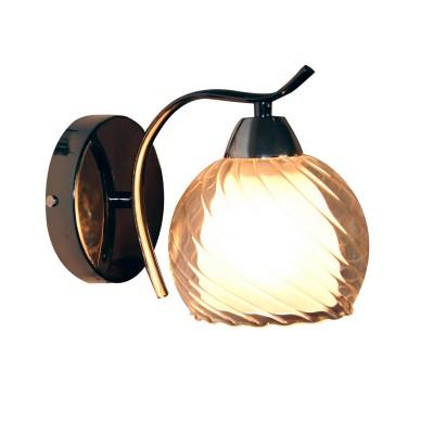 Светильник настенный бра Idlamp 873/1A-Darkchrome Isabellaснятые с производства светильники<br><br><br>Крепление: Настенные<br>Тип лампы: Накаливания / энергосбережения / светодиодная<br>Тип цоколя: E27<br>Цвет арматуры: серебристый<br>Количество ламп: 1<br>Ширина, мм: 205<br>Длина, мм: 115<br>Высота, мм: 170<br>MAX мощность ламп, Вт: 40