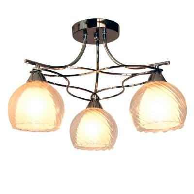 Люстра Idlamp 873/3PF-Darkchrome IsabellaПотолочные<br><br><br>Установка на натяжной потолок: Да<br>S освещ. до, м2: 6<br>Крепление: Планка<br>Тип товара: Люстра<br>Скидка, %: 19<br>Тип лампы: Накаливания / энергосбережения / светодиодная<br>Тип цоколя: E27<br>Количество ламп: 3<br>Ширина, мм: 460<br>MAX мощность ламп, Вт: 40<br>Диаметр, мм мм: 460<br>Длина, мм: 460<br>Высота, мм: 300<br>Цвет арматуры: серебристый