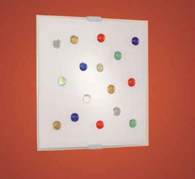 Eglo SANTIAGO 1 87306 Настенно-потолочные светильникиКвадратные<br>Австрийское качество модели светильника Eglo 87306 не оставит равнодушным каждого купившего! Матовое закаленное стекло(пр-во Чехия), цветной стеклянный декор, Белый металический корпус, Класс изоляции 2 (двойная изоляция), IP 20, Экологически безопасные технологии.,L=290Н=290,2X40W,E14.<br><br>S освещ. до, м2: 5<br>Тип лампы: накаливания / энергосбережения / LED-светодиодная<br>Тип цоколя: E14<br>Количество ламп: 2<br>MAX мощность ламп, Вт: 2<br>Размеры основания, мм: 0<br>Длина, мм: 290<br>Расстояние от стены, мм: 65<br>Высота, мм: 290<br>Оттенок (цвет): белый, прозрачный, разноцветный<br>Цвет арматуры: белый<br>Общая мощность, Вт: 2X40W