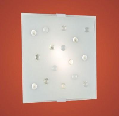Eglo SANTIAGO 1 87312 Светильник настенно-потолочныйКвадратные<br>Австрийское качество модели светильника Eglo 87312 не оставит равнодушным каждого купившего! Матовое закаленное стекло(пр-во Чехия), цветной стеклянный декор, Белый металический корпус, Класс изоляции 2 (двойная изоляция), IP 20, Экологически безопасные технологии.,L=290Н=290,2X40W,E14.<br><br>S освещ. до, м2: 5<br>Тип лампы: накаливания / энергосбережения / LED-светодиодная<br>Тип цоколя: E14<br>Количество ламп: 2<br>Ширина, мм: 290<br>MAX мощность ламп, Вт: 40<br>Длина, мм: 290<br>Расстояние от стены, мм: 65<br>Высота, мм: 65<br>Цвет арматуры: белый