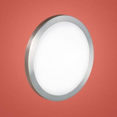 Eglo AREZZO 87329 Настенно-потолочный светильникКруглые<br>Австрийское качество модели светильника Eglo 87329 не оставит равнодушным каждого купившего! Матовое закаленное стекло(пр-во Чехия), Никель-матовый корпус, Класс изоляции 2 (двойная изоляция), IP 20, Экологически безопасные технологии.,D=345,1X60W,E27.<br><br>S освещ. до, м2: 4<br>Тип товара: Настенно-потолочный светильник<br>Скидка, %: 10<br>Тип лампы: накаливания / энергосбережения / LED-светодиодная<br>Тип цоколя: E27<br>Количество ламп: 1<br>MAX мощность ламп, Вт: 2<br>Диаметр, мм мм: 345<br>Размеры основания, мм: 0<br>Расстояние от стены, мм: 78<br>Оттенок (цвет): белый<br>Цвет арматуры: серый<br>Общая мощность, Вт: 1X60W