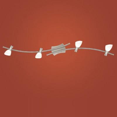 Eglo ONA 87366 Светильник поворотный спотС 4 лампами<br><br><br>S освещ. до, м2: 10<br>Тип товара: Светильник поворотный спот<br>Скидка, %: 57<br>Тип лампы: галогенная / LED-светодиодная<br>Тип цоколя: G9<br>Количество ламп: 4<br>Ширина, мм: 100<br>MAX мощность ламп, Вт: 2<br>Размеры основания, мм: 0<br>Длина, мм: 1155<br>Оттенок (цвет): белый<br>Цвет арматуры: серый<br>Общая мощность, Вт: 4X33W
