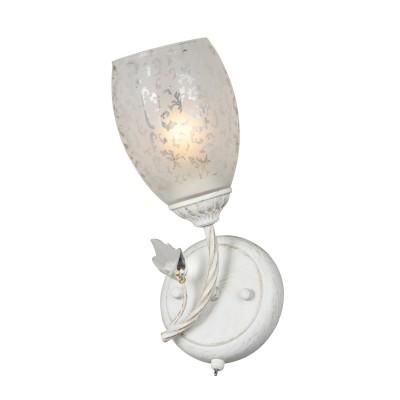 Светильник настенный бра Idlamp 874/1A-Whitepatina Juliaбра флористика и цветы<br><br><br>Крепление: Настенные<br>Тип лампы: Накаливания / энергосбережения / светодиодная<br>Тип цоколя: E27<br>Цвет арматуры: белый с золотистой патиной<br>Количество ламп: 1<br>Ширина, мм: 160<br>Длина, мм: 250<br>Высота, мм: 260<br>MAX мощность ламп, Вт: 60