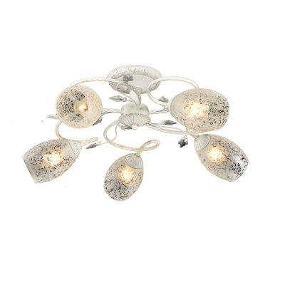 Люстра потолочная Julia 874/5PF-WhitepatinaОжидается<br><br><br>Крепление: Крепежная планка<br>Тип цоколя: E27<br>Цвет арматуры: Белый с оттенком<br>Количество ламп: 5<br>Диаметр, мм мм: 690<br>Высота, мм: 270<br>Оттенок (цвет): Белый<br>MAX мощность ламп, Вт: 60