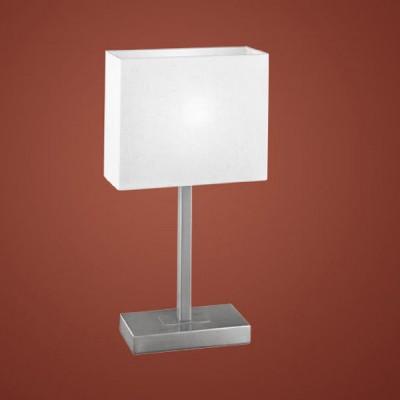 Eglo PUEBLO 1 87598 Настольная лампаКлассические<br>Австрийское качество модели светильника Eglo 87598 не оставит равнодушным каждого купившего! Основание матовая никилерованная сталь , текстильный абажур с защитным покрытием белого цвета, Класс изоляции 2 (плоская вилка, двойная изоляция от вилки до лампы), сенсорный выключатель, IP 20, освещенность 860 lm Н=480,L=200.<br><br>S освещ. до, м2: 4<br>Тип лампы: накал-я - энергосбер-я<br>Тип цоколя: E14<br>Цвет арматуры: серый<br>Количество ламп: 1<br>Ширина, мм: 210<br>Размеры основания, мм: 200 / 100<br>Длина, мм: 260<br>Высота, мм: 480<br>Оттенок (цвет): бежевый<br>MAX мощность ламп, Вт: 2<br>Общая мощность, Вт: 1X60W