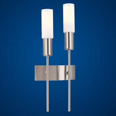 Eglo Samanta 87978 СветильникСнято с производства<br><br><br>S освещ. до, м2: до 2<br>Тип товара: Светильник<br>Тип лампы: накал-я - энергосбер-я<br>Тип цоколя: Е14<br>Количество ламп: 2<br>Ширина, мм: 173<br>MAX мощность ламп, Вт: 9W<br>Расстояние от стены, мм: 65<br>Высота, мм: 421<br>Цвет арматуры: никель