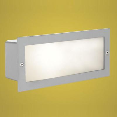 Eglo ZIMBA 88008 светильник уличныйВстраиваемые<br>Новинка 2008. Врезные парковые светильники EGLO ZIMBA (IP44) и врезные энергосберегающие парковые светильники EGLO RIGA 3 (IP67) — светильники для наружного освещения. Степень защиты IP67 — полная защита от пыли (пыленепроницаемый, dust-tight), защита от проникновения воды при погружении (waterproof)  степень защиты IP44 — защита от твердых тел gt  1 мм, защита от капель и брызг. Плафоны светильников выполнены из высококачественного матированного стекла  арматура светильников 1, 2 — из алюминия, арматура светильников 3, 4, 5, 6 — из нержавеющей стали, подземная часть — из пластика. Светильники 1, 2 рассчитаны на обычную лампу E27 60W max и E27 100W max, светильники 3, 4 — на энергосберегающую компактную люминесцентную лампу PL 15W E27 и PL 11W E14. Светильники 5, 6 имеют светодиодный модуль LED GU10 1,28W. Цвет ZIMBA (IP44): 1, 2 — серебристый (silver)  цвет RIGA 3 (IP67): 3, 4, 5, 6 — нержавеющая сталь (stainless steel).<br><br>Тип лампы: накаливания / энергосбережения / LED-светодиодная<br>Тип цоколя: E27<br>Ширина, мм: 101<br>MAX мощность ламп, Вт: 60<br>Диаметр врезного отверстия, мм: 234x87<br>Длина, мм: 243<br>Высота, мм: 5<br>Цвет арматуры: серебристый<br>Общая мощность, Вт: 2