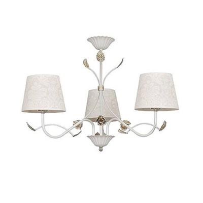 Emibig MERIDA WHITE 881/3 потолочный светильниклюстры флористика потолочные<br><br><br>Установка на натяжной потолок: Да<br>S освещ. до, м2: 9<br>Крепление: Потолочное<br>Тип цоколя: E27<br>Количество ламп: 3<br>Диаметр, мм мм: 550<br>Высота, мм: 480<br>MAX мощность ламп, Вт: 60
