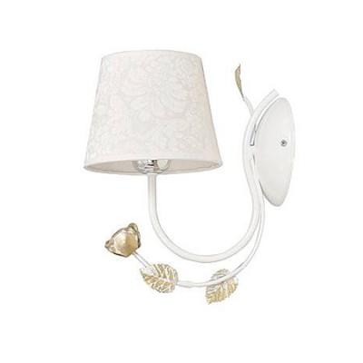 Emibig MERIDA WHITE 881/K1 настенный светильникбра флористика и цветы<br><br><br>Крепление: Настенное<br>Тип цоколя: E27<br>Количество ламп: 1<br>Расстояние от стены, мм: 280<br>Высота, мм: 300<br>MAX мощность ламп, Вт: 60