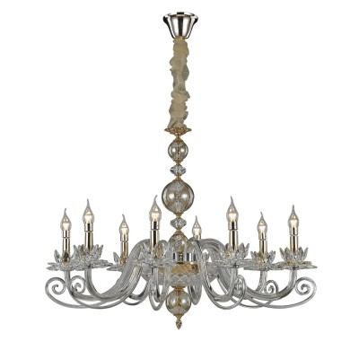 Светильник Divinare 8820/09 LM-8Подвесные<br><br><br>S освещ. до, м2: 16<br>Тип лампы: Накаливания / энергосбережения / светодиодная<br>Тип цоколя: E14<br>Количество ламп: 8<br>MAX мощность ламп, Вт: 40W<br>Диаметр, мм мм: 890<br>Высота, мм: 590