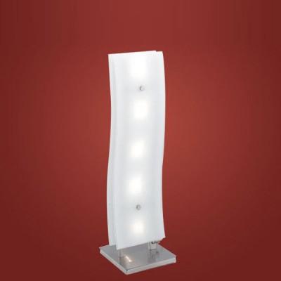 Eglo Eglo 8820 88208 настольная лампаБелые<br>Настольная лампа – это не просто источник дополнительного освещения, но и оригинальный элемент декора. Его можно установить в спальне, гостиной, кабинете и других комнатах. Интернет-магазин «Светодом» предлагает настольные лампы разных стилей по доступным ценам. Благодаря большому ассортименту Вы обязательно найдете в нашем каталоге именно ту модель, которую искали.   Настольная лампа Eglo 88208 – прекрасный вариант для завершения интерьера. Ее можно включить одновременно с люстрой для более яркого освещения или без нее для создания уютной атмосферы, настраивающей на отдых.   Купить настольную лампу Eglo 88208 Вы можете с помощью виртуальной «Корзины» или по контактным номерам, указанным на сайте.<br><br>S освещ. до, м2: 6<br>Тип лампы: галогенная / LED-светодиодная<br>Тип цоколя: G4<br>Количество ламп: 5<br>Ширина, мм: 155<br>MAX мощность ламп, Вт: 20<br>Высота, мм: 550<br>Цвет арматуры: серый