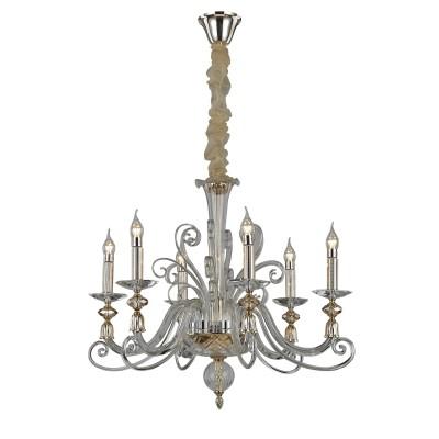 Светильник Divinare 8821/09 LM-6Подвесные<br><br><br>Установка на натяжной потолок: Да<br>S освещ. до, м2: 12<br>Тип лампы: Накаливания / энергосбережения / светодиодная<br>Тип цоколя: E14<br>Количество ламп: 6<br>MAX мощность ламп, Вт: 40W<br>Диаметр, мм мм: 700<br>Высота, мм: 610