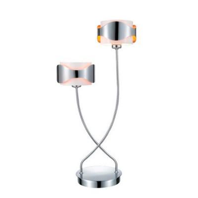 Eglo Eglo 8846 88469 настольная лампаХай тек<br>снято с производства<br><br>S освещ. до, м2: 5<br>Тип лампы: галогенная / LED-светодиодная<br>Тип цоколя: G9<br>Количество ламп: 2<br>Ширина, мм: 135<br>MAX мощность ламп, Вт: 40<br>Высота, мм: 540<br>Цвет арматуры: серебристый