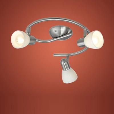 Eglo DAKAR 1 88475 Светильник поворотный спотПоворотные<br>Австрийское качество модели светильника Eglo 88475 не оставит равнодушным каждого купившего! Закаленное фактурное белое стекло (пр-во Чехия) , основание сталь с никелевыми матирующим покрытием , Класс изоляции 2 (двойная изоляция от вилки до лампы), IP 20, освещенность 1410 lm ,B=100L=370,3X40W,E14.<br><br>Установка на натяжной потолок: Ограничено<br>S освещ. до, м2: 8<br>Крепление: Планка<br>Тип лампы: накаливания / энергосбережения / LED-светодиодная<br>Тип цоколя: E14<br>Количество ламп: 3<br>MAX мощность ламп, Вт: 40<br>Диаметр, мм мм: 295<br>Размеры основания, мм: 0<br>Оттенок (цвет): белый<br>Цвет арматуры: серый<br>Общая мощность, Вт: 3X40W