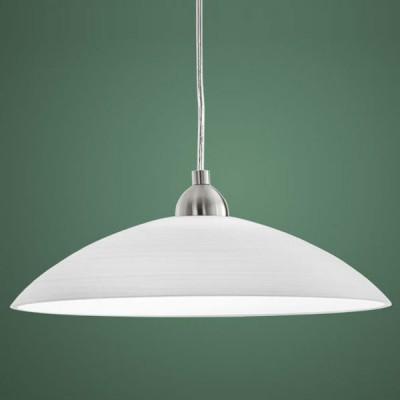 Eglo LORD 3 88491 Светильник подвеснойОдиночные<br>Австрийское качество модели светильника Eglo 88491 не оставит равнодушным каждого купившего! Закаленное стекло (пр-во Чехия) c нанесенным рассеивающим узором белого цвета. Основание хромированная сталь. Класс изоляции 2 (двойная изоляция до лампы), IP 20, освещенность 806 lm ,Н=1100D=360,1X60W,E27.<br><br>S освещ. до, м2: 3<br>Тип лампы: накаливания / энергосбережения / LED-светодиодная<br>Тип цоколя: E27<br>Количество ламп: 1<br>MAX мощность ламп, Вт: 60<br>Диаметр, мм мм: 360<br>Размеры основания, мм: 0<br>Высота, мм: 1100<br>Оттенок (цвет): белый<br>Цвет арматуры: серый<br>Общая мощность, Вт: 1X60W
