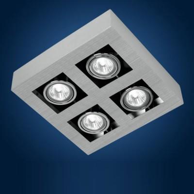 Eglo LOKE 89079 СпотыКарданные<br>Австрийское качество модели светильника Eglo 89079 не оставит равнодушным каждого купившего! Стальной никель-матовый корпус, Класс изоляции 2 (двойная изоляция), IP 20, Экологически безопасные технологии. Освещенность 2040 lm , 250х250.<br><br>S освещ. до, м2: 6 - 8<br>Тип лампы: галогенная/светодиодная<br>Тип цоколя: GU10<br>Цвет арматуры: алюминий чесаный, хром, черный<br>Количество ламп: 4<br>Ширина, мм: 250<br>Размеры основания, мм: 0<br>Длина, мм: 250<br>Расстояние от стены, мм: 85<br>MAX мощность ламп, Вт: 2<br>Общая мощность, Вт: 4X35W