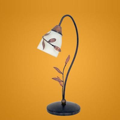 Eglo 89126 настольная лампаФлористика<br><br><br>S освещ. до, м2: до 2<br>Тип лампы: накал-я - энергосбер-я<br>Тип цоколя: E14<br>Цвет арматуры: коричневый<br>Количество ламп: 1<br>Ширина, мм: 180<br>Диаметр, мм мм: 137<br>Высота, мм: 376<br>MAX мощность ламп, Вт: 40W