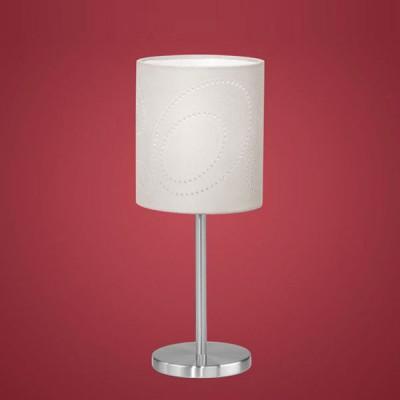 Настольная лампа Eglo 89216С абажуром<br>Австрийское качество модели светильника Eglo 89216 не оставит равнодушным каждого купившего! Никелированный корпус, с выключателем, Текстильный (микрофибра) абажур со специальной пропиткой, легко ухаживать, Класс изоляции 2 (двойная изоляция), IP 20, освещенность 806 lm. ,Н=390D=145,1X60W,E27.<br><br>S освещ. до, м2: 4<br>Тип лампы: накал-я - энергосбер-я<br>Тип цоколя: E27<br>Количество ламп: 1<br>MAX мощность ламп, Вт: 2<br>Диаметр, мм мм: 145<br>Размеры основания, мм: 120<br>Высота, мм: 390<br>Оттенок (цвет): бежевый<br>Цвет арматуры: серый<br>Общая мощность, Вт: 1X60W