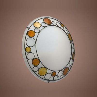 Eglo Toleda 89323 Светильник настенно-потолочныйКруглые<br>Австрийское качество модели светильника Eglo 89323 не оставит равнодушным каждого купившего! Матовое закаленное стекло(пр-во Чехия) с металическим декоративным элементом со стеклянными круглыми вставками оранжевого цвета, металический корпус белого цвета, Класс изоляции 1, IP 20.,D=395,2X60W,E27.<br><br>S освещ. до, м2: 8<br>Тип товара: Светильник настенно-потолочный<br>Скидка, %: 59<br>Тип лампы: накаливания / энергосбережения / LED-светодиодная<br>Тип цоколя: E27<br>Количество ламп: 2<br>Ширина, мм: 395<br>MAX мощность ламп, Вт: 60<br>Цвет арматуры: серый