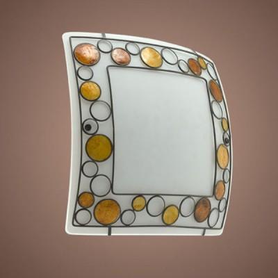 Eglo TOLEDA 89324 Настенно-потолочные светильникиКвадратные<br>Австрийское качество модели светильника Eglo 89324 не оставит равнодушным каждого купившего! Матовое закаленное стекло(пр-во Чехия) с металическим декоративным элементом со стеклянными круглыми вставками оранжевого цвета, металический корпус белого цвета, Класс изоляции 1, IP 20.,L=410B=410,2X60W,E27.<br><br>S освещ. до, м2: 8<br>Тип лампы: накаливания / энергосбережения / LED-светодиодная<br>Тип цоколя: E27<br>Количество ламп: 2<br>Ширина, мм: 410<br>MAX мощность ламп, Вт: 2<br>Размеры основания, мм: 0<br>Длина, мм: 410<br>Расстояние от стены, мм: 98<br>Оттенок (цвет): белый, коричневый , оранжевый<br>Цвет арматуры: белый<br>Общая мощность, Вт: 2X60W