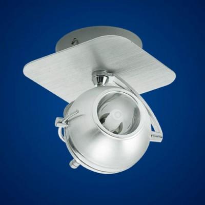 Eglo SEVO 89327 Светильник поворотный спотОдиночные<br>Австрийское качество модели светильника Eglo 89327 не оставит равнодушным каждого купившего! Плафон из шлифованного алюминия с хромированными вставками, стальной хромированный корпус с облицовкой из шлифованого алюминия. Класс изоляции 2(двойная изоляция), IP 20, Экологически безопасные технологии. Освещенность 470 lm , L=110B=110,1X33W,G9.<br><br>S освещ. до, м2: 2<br>Тип лампы: галогенная / LED-светодиодная<br>Тип цоколя: G9<br>Количество ламп: 1<br>Ширина, мм: 110<br>MAX мощность ламп, Вт: 40<br>Цвет арматуры: серебристый
