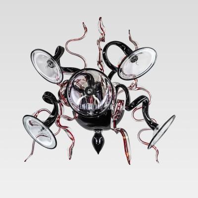 Светильник настенный бра Lightstar 894657Современные<br><br><br>Тип лампы: галогенная/LED<br>Тип цоколя: G4<br>Количество ламп: 5<br>Ширина, мм: 350<br>Длина, мм: 590<br>Высота, мм: 590<br>MAX мощность ламп, Вт: 20