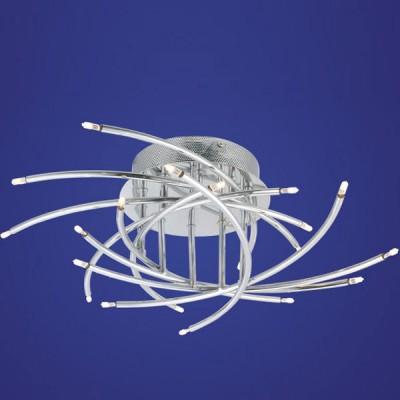Eglo RIVERA 89718 Настенно-потолочный светильникПотолочные<br>Австрийское качество модели светильника Eglo 89718 не оставит равнодушным каждого купившего! Стальной хром. корпус, Класс изоляции 2 (плоская вилка, двойная изоляция от вилки до лампы), IP 20, Экологически безопасные технологии.,D=500,20X10W,G4.<br><br>Установка на натяжной потолок: Ограничено<br>S освещ. до, м2: 13<br>Крепление: Планка<br>Тип товара: Настенно-потолочный светильник<br>Тип лампы: галогенная / LED-светодиодная<br>Тип цоколя: G4<br>Количество ламп: 20<br>MAX мощность ламп, Вт: 29<br>Диаметр, мм мм: 500<br>Размеры основания, мм: 0<br>Расстояние от стены, мм: 180<br>Цвет арматуры: серебристый<br>Общая мощность, Вт: 20X10W