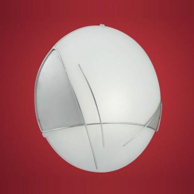 Eglo RAYA 89758 Настенно-потолочный светильниккруглые светильники<br>Австрийское качество модели светильника Eglo 89758 не оставит равнодушным каждого купившего! Матовое закаленное стекло(пр-во Чехия) c металическим декором(хром), Белый металический корпус, Класс изоляции 2 (двойная изоляция), IP 20, Экологически безопасные технологии.,D=315,1X60W,E27.<br><br>S освещ. до, м2: 4<br>Тип лампы: накаливания / энергосбережения / LED-светодиодная<br>Тип цоколя: E27<br>Цвет арматуры: белый<br>Количество ламп: 1<br>Диаметр, мм мм: 315<br>Размеры основания, мм: 0<br>Расстояние от стены, мм: 100<br>Оттенок (цвет): белый, серебряный<br>MAX мощность ламп, Вт: 2<br>Общая мощность, Вт: 1X60W
