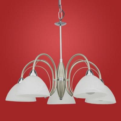 Eglo MILEA 89823 ЛюстраПодвесные<br>Австрийское качество модели светильника Eglo 89823 не оставит равнодушным каждого купившего! Закаленное алебастровое белое стекло (пр-во Чехия) , основание хромированная сталь с никелевыми матирующими вставками , цепной подвес, Класс изоляции 2 (двойная изоляция до лампы), IP 20, освещенность 2680 lm ,Н=1100D=635,5X40W,E14.<br><br>Установка на натяжной потолок: Да<br>S освещ. до, м2: 13<br>Крепление: Крюк<br>Тип лампы: накаливания / энергосбережения / LED-светодиодная<br>Тип цоколя: E14<br>Количество ламп: 5<br>MAX мощность ламп, Вт: 40<br>Диаметр, мм мм: 635<br>Размеры основания, мм: 0<br>Высота, мм: 1100<br>Оттенок (цвет): белый<br>Цвет арматуры: серый<br>Общая мощность, Вт: 5X40W