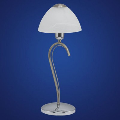 Eglo MILEA 89825 Настольная лампаКлассические<br>Австрийское качество модели светильника Eglo 89825 не оставит равнодушным каждого купившего! Закаленное алебастровое белое стекло (пр-во Чехия) , основание хромированная сталь с никелевыми матирующими вставками , Класс изоляции 2 (плоская вилка, двойная изоляция от вилки до лампы), , IP 20, освещенность 470 lm ,Н=430D=170,1X60W,E14.<br><br>S освещ. до, м2: 4<br>Тип лампы: накал-я - энергосбер-я<br>Тип цоколя: E14<br>Цвет арматуры: серый<br>Количество ламп: 1<br>Диаметр, мм мм: 170<br>Размеры основания, мм: 135<br>Высота, мм: 430<br>Оттенок (цвет): белый<br>MAX мощность ламп, Вт: 2<br>Общая мощность, Вт: 1X60W