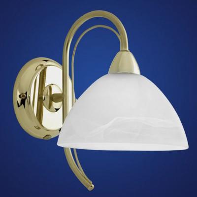 Eglo MILEA 89828 Светильник настенный браКлассика<br><br><br>S освещ. до, м2: 2<br>Тип товара: Светильник настенный бра<br>Тип лампы: накаливания / энергосбережения / LED-светодиодная<br>Тип цоколя: E14<br>Количество ламп: 1<br>MAX мощность ламп, Вт: 2<br>Размеры основания, мм: 0<br>Длина, мм: 170<br>Расстояние от стены, мм: 240<br>Высота, мм: 245<br>Оттенок (цвет): белый<br>Цвет арматуры: латунь<br>Общая мощность, Вт: 1X40W