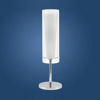 Eglo PINTO 89835 Настольная лампаСовременные<br>Австрийское качество модели светильника Eglo 89835 не оставит равнодушным каждого купившего! Прозрачное и матовое закаленное стекло(пр-во Чехия), Никелированный глянцевый корпус, с выключателем, Класс изоляции 2 (двойная изоляция), IP 20, освещенность 806 lm ,Н=500D=110,1X60W,E27.<br><br>S освещ. до, м2: 4<br>Тип лампы: накаливания / энергосбережения / LED-светодиодная<br>Тип цоколя: E27<br>Цвет арматуры: серебристый<br>Количество ламп: 1<br>Диаметр, мм мм: 110<br>Размеры основания, мм: 155<br>Высота, мм: 500<br>Оттенок (цвет): прозрачный, белый<br>MAX мощность ламп, Вт: 2<br>Общая мощность, Вт: 1X60W