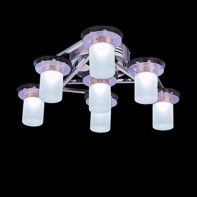 Светильник Евросвет 90011/7 хром/бело-синийПотолочные<br>Компания «Светодом» предлагает широкий ассортимент люстр от известных производителей. Представленные в нашем каталоге товары выполнены из современных материалов и обладают отличным качеством. Благодаря широкому ассортименту Вы сможете найти у нас люстру под любой интерьер. Мы предлагаем как классические варианты, так и современные модели, отличающиеся лаконичностью и простотой форм.  Стильная люстра Евросвет 90011/7 станет украшением любого дома. Эта модель от известного производителя не оставит равнодушным ценителей красивых и оригинальных предметов интерьера. Люстра Евросвет 90011/7 обеспечит равномерное распределение света по всей комнате. При выборе обратите внимание на характеристики, позволяющие приобрести наиболее подходящую модель. Купить понравившуюся люстру по доступной цене Вы можете в интернет-магазине «Светодом».<br><br>Установка на натяжной потолок: Ограничено<br>S освещ. до, м2: 2<br>Крепление: Планка<br>Тип лампы: галогенная / LED-светодиодная<br>Тип цоколя: G4<br>Количество ламп: 7<br>MAX мощность ламп, Вт: 5<br>Диаметр, мм мм: 650<br>Высота, мм: 200<br>Цвет арматуры: серебристый