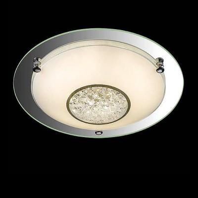 Евросвет 90013/1 хромКруглые<br><br><br>S освещ. до, м2: 5<br>Тип лампы: LED<br>Тип цоколя: LED<br>Диаметр, мм мм: 315<br>Высота, мм: 90<br>MAX мощность ламп, Вт: 12