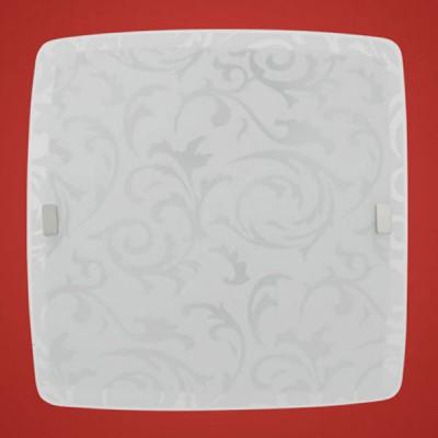 Eglo SCALEA 1 90045 Настенно-потолочные светильникиквадратные светильники<br>Австрийское качество модели светильника Eglo 90045 не оставит равнодушным каждого купившего! Матовое закаленное стекло(пр-во Чехия) вытравленный рисунок , основание сталь с защитным покрытием. Класс изоляции 2 (двойная изоляция), IP 20, освещенность 1610 lm ,L=410B=410,2X60W,E27.<br><br>S освещ. до, м2: 8<br>Тип лампы: накаливания / энергосбережения / LED-светодиодная<br>Тип цоколя: E27<br>Цвет арматуры: белый<br>Количество ламп: 2<br>Ширина, мм: 410<br>Размеры основания, мм: 0<br>Длина, мм: 410<br>Расстояние от стены, мм: 100<br>Оттенок (цвет): белый с декором<br>MAX мощность ламп, Вт: 2<br>Общая мощность, Вт: 2X60W